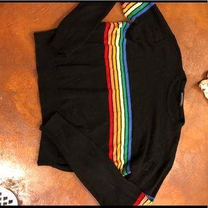 Rainbow knit brandy Melville sweater